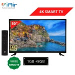 iAir 50'' 4K Ultra HD SMART LED TV with Voice Remote (1GB + 8GB)