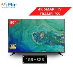 iAir 50'' 4K Ultra HD SMART FRAMELESS LED TV (1GB + 8GB)