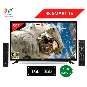 iAir 55'' 4K Ultra HD SMART LED TV With Voice Remote