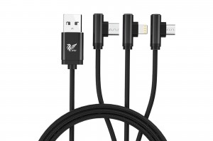 iAir D17- 3 in 1 Right Angeled Multi USB cable