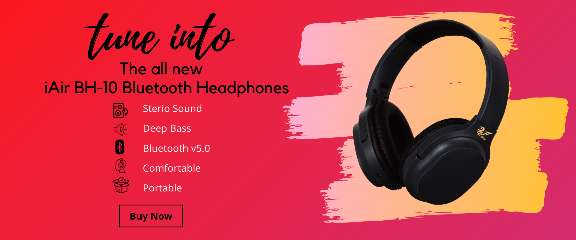 BH-10 Over the ear Bluetooth Headphones